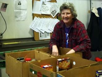Linda Milewski has been volunteering at The Food Bank for fifteen years