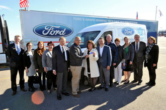The ford motor company fund helps the food bank go the for Ford motor company awards