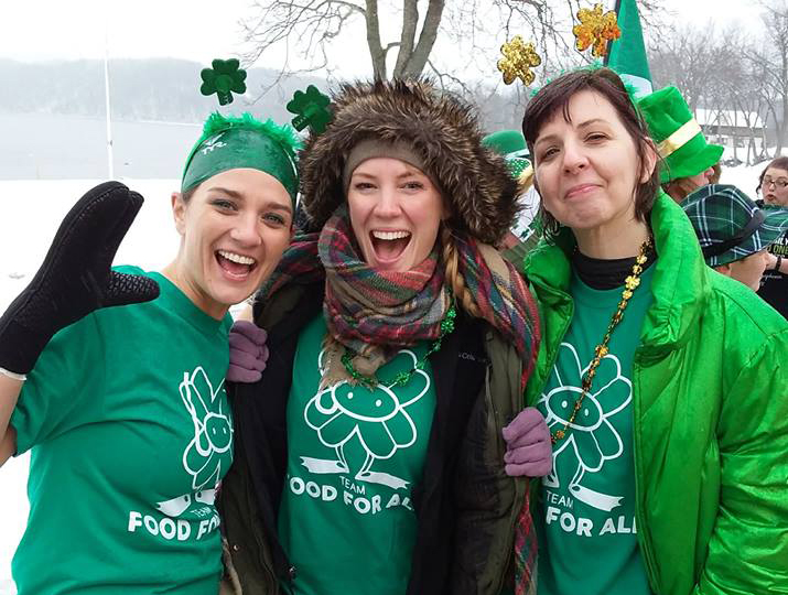 Team Food For All at the Leprechaun Plunge