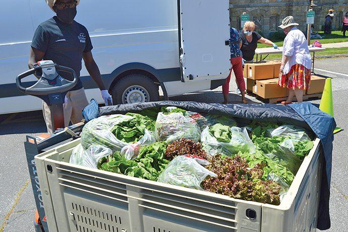 Mobile Food Bank - fresh produce